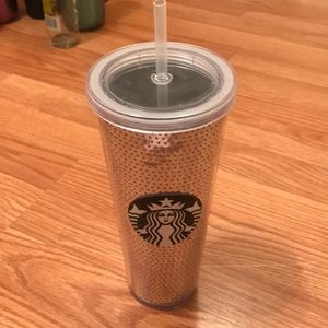 Silver sequins Starbucks cup
